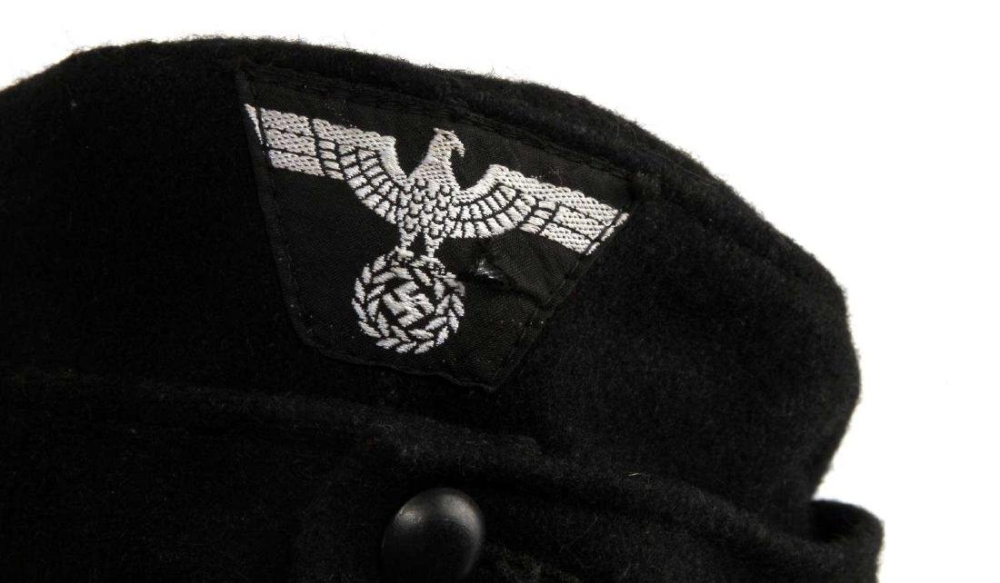 GERMAN WWII WAFFEN SS PANZER ENLISTED MANS M43 CAP - 7