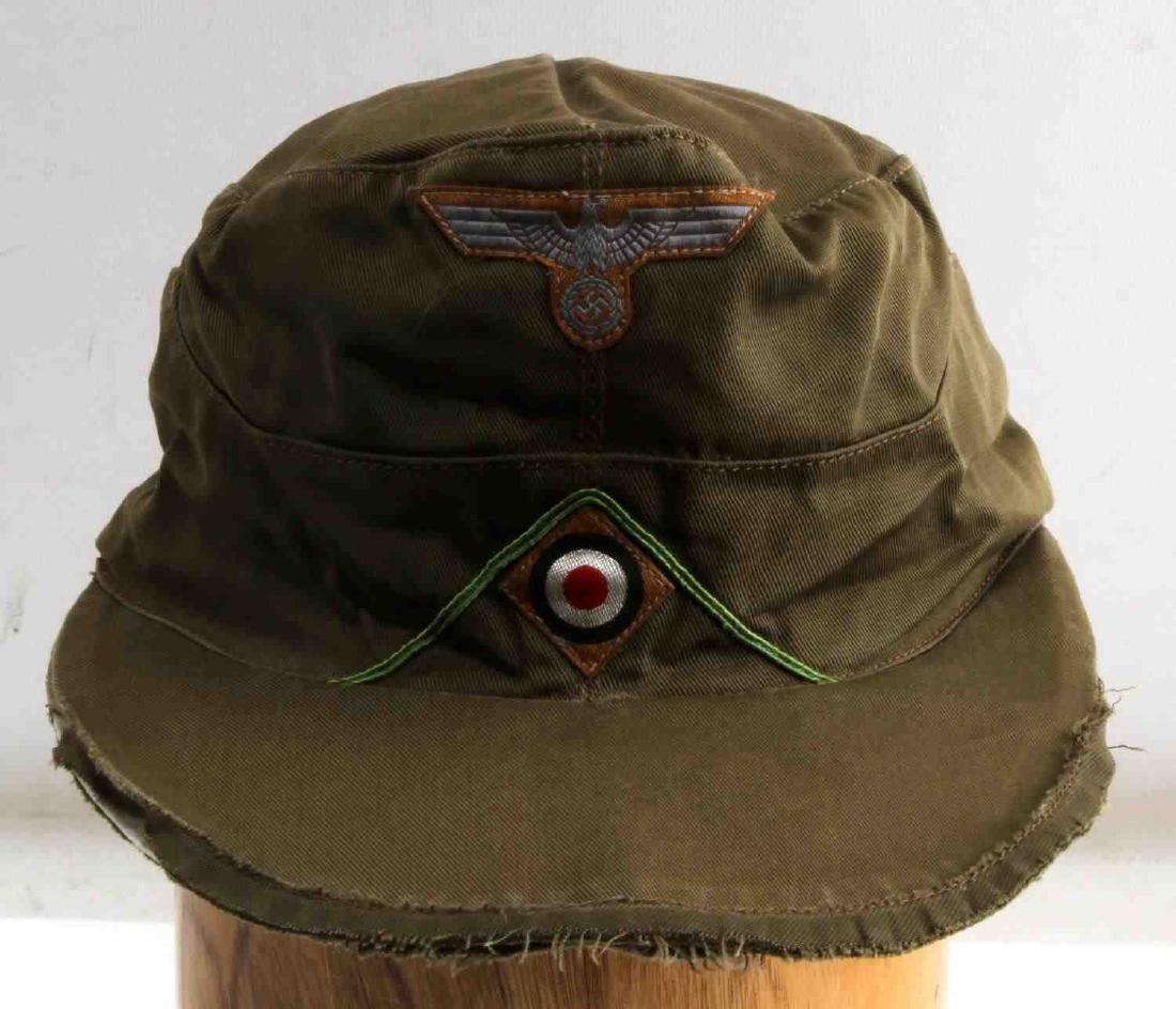 GERMAN WWII ARMY AFRIKA KORPS TROPICAL EM M41 CAP