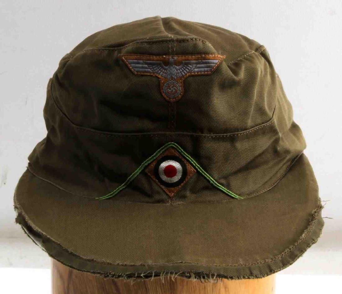 GERMAN WWII ARMY AFRIKA KORPS TROPICAL EM M41 CAP