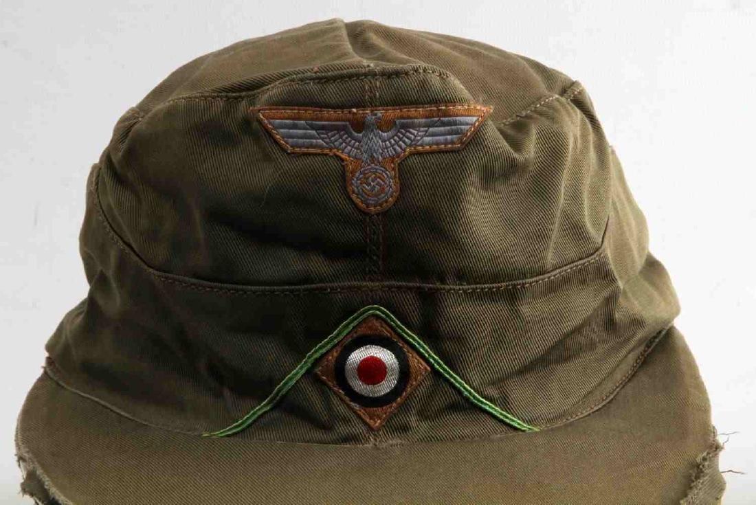 GERMAN WWII ARMY AFRIKA KORPS TROPICAL EM M41 CAP - 2