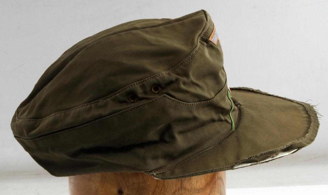 GERMAN WWII ARMY AFRIKA KORPS TROPICAL EM M41 CAP - 3