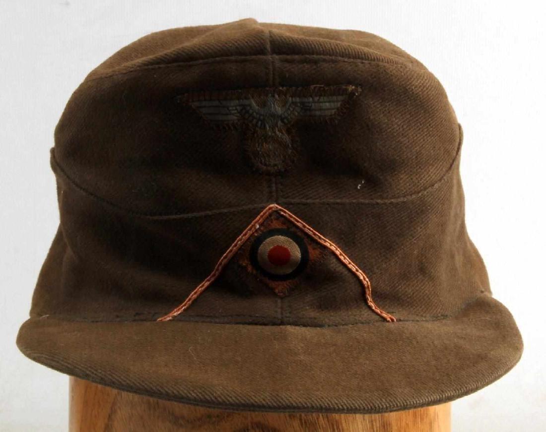 WWII GERMAN AFRIKA KORPS FIELD POLICE EM M41 CAP