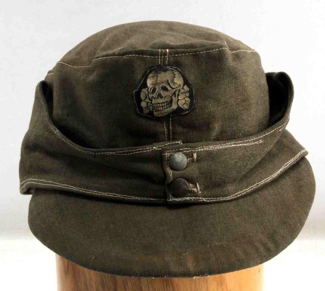 WWII GERMAN THIRD REICH WAFFEN SS COMBAT FIELD CAP