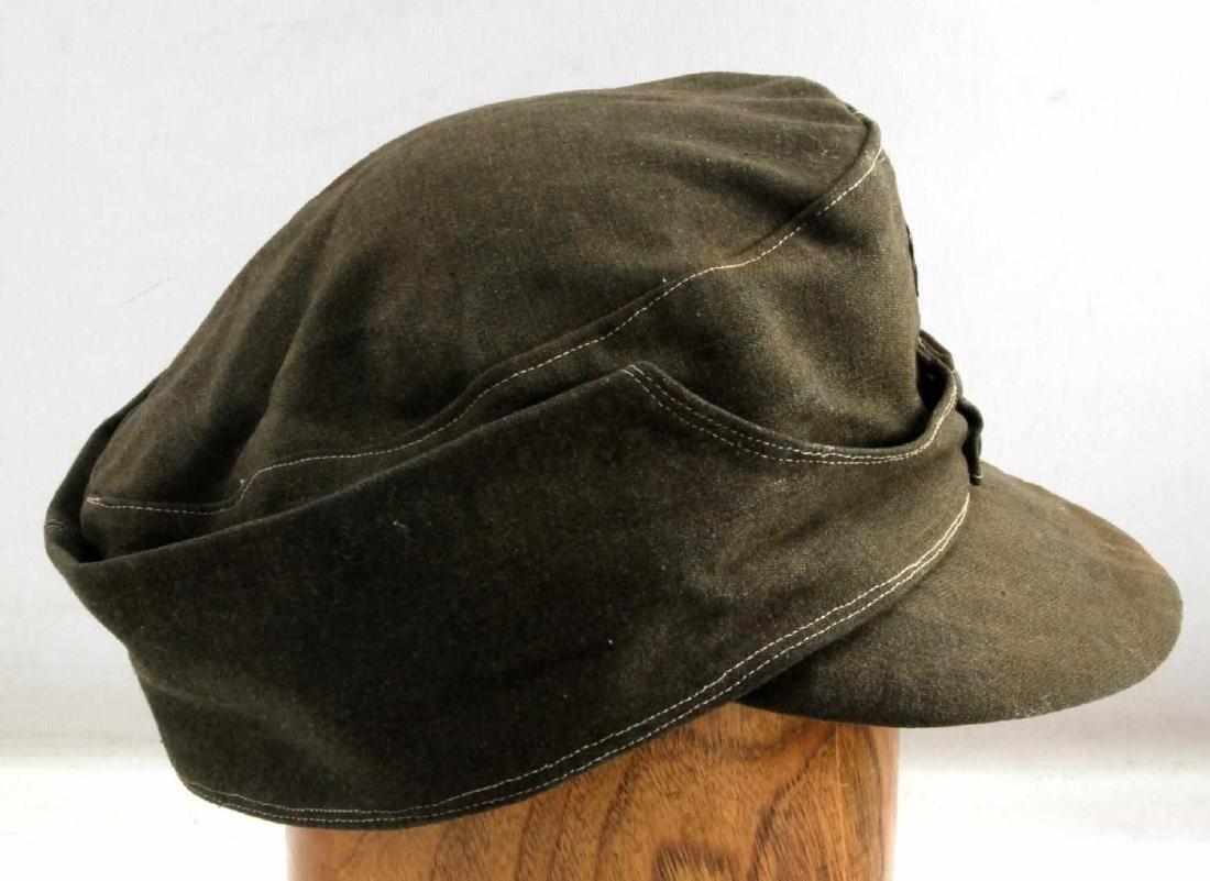 WWII GERMAN THIRD REICH WAFFEN SS COMBAT FIELD CAP - 2
