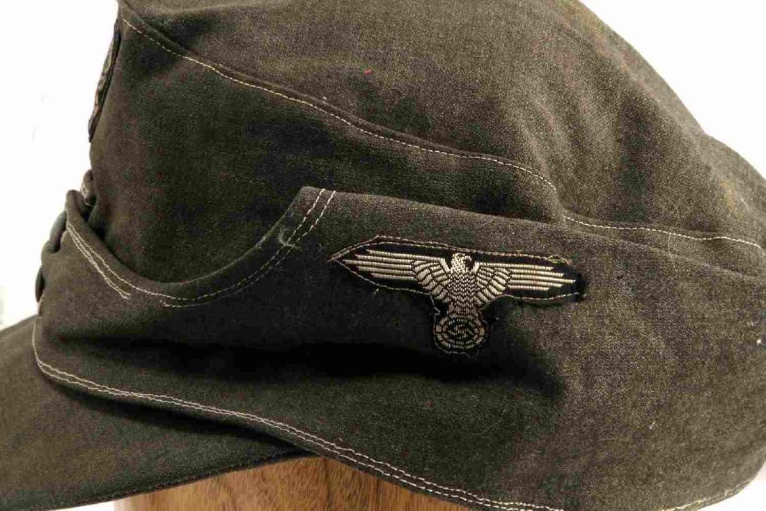 WWII GERMAN THIRD REICH WAFFEN SS COMBAT FIELD CAP - 4