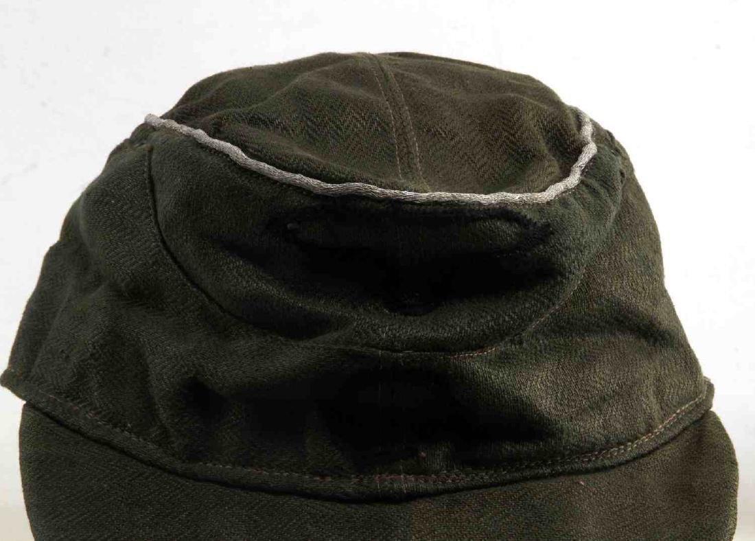 WWII GERMAN 3RD REICH WAFFEN SS OFFICER FIELD CAP - 2