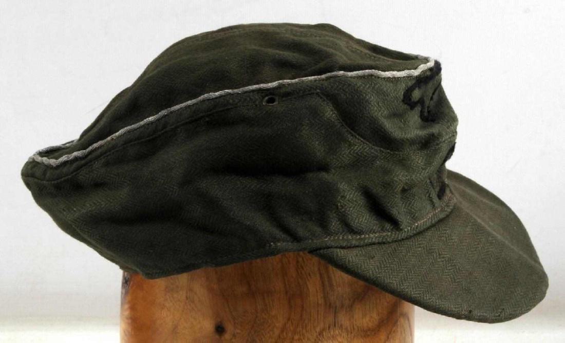 WWII GERMAN 3RD REICH WAFFEN SS OFFICER FIELD CAP - 3