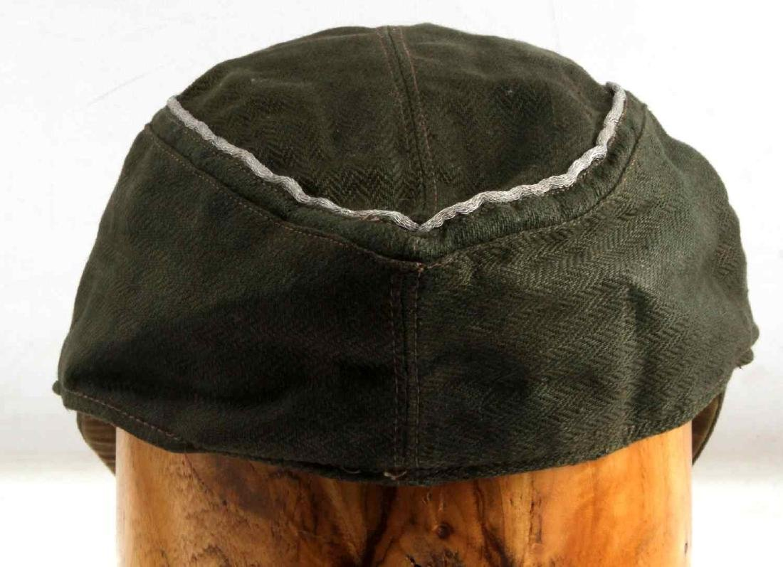 WWII GERMAN 3RD REICH WAFFEN SS OFFICER FIELD CAP - 4
