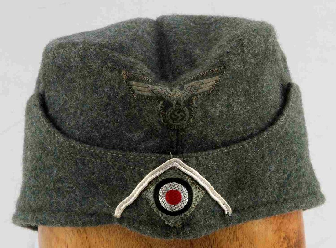 GERMAN WWII ARMY INFANTRY EM OVERSEAS CAP GREEN - 2
