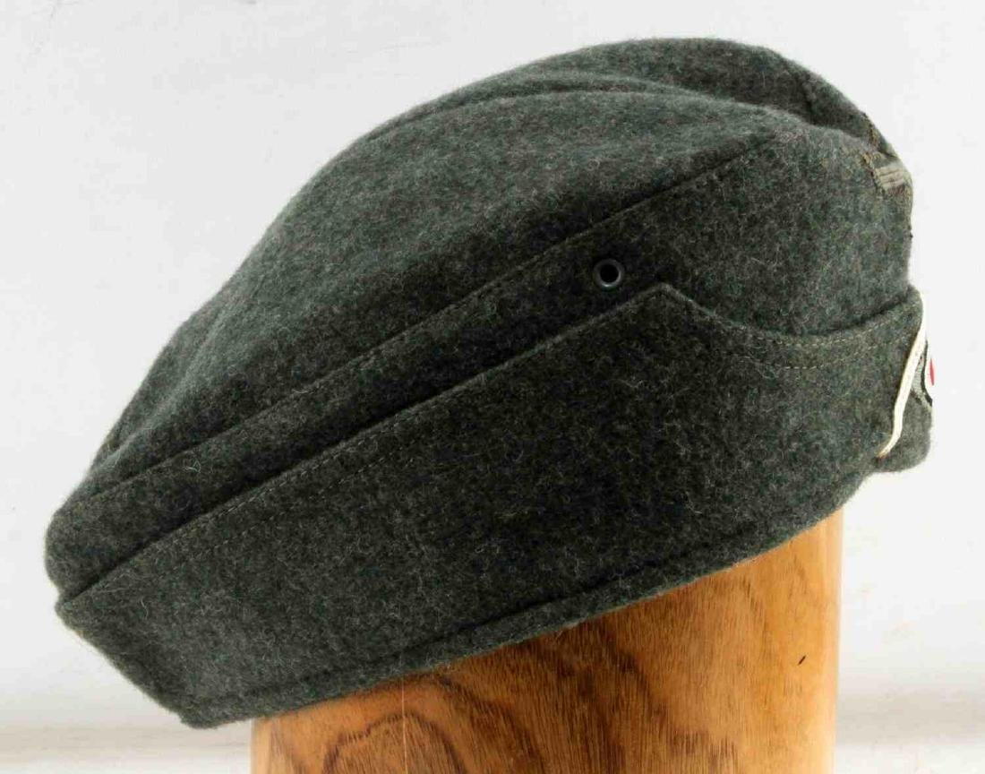 GERMAN WWII ARMY INFANTRY EM OVERSEAS CAP GREEN - 3
