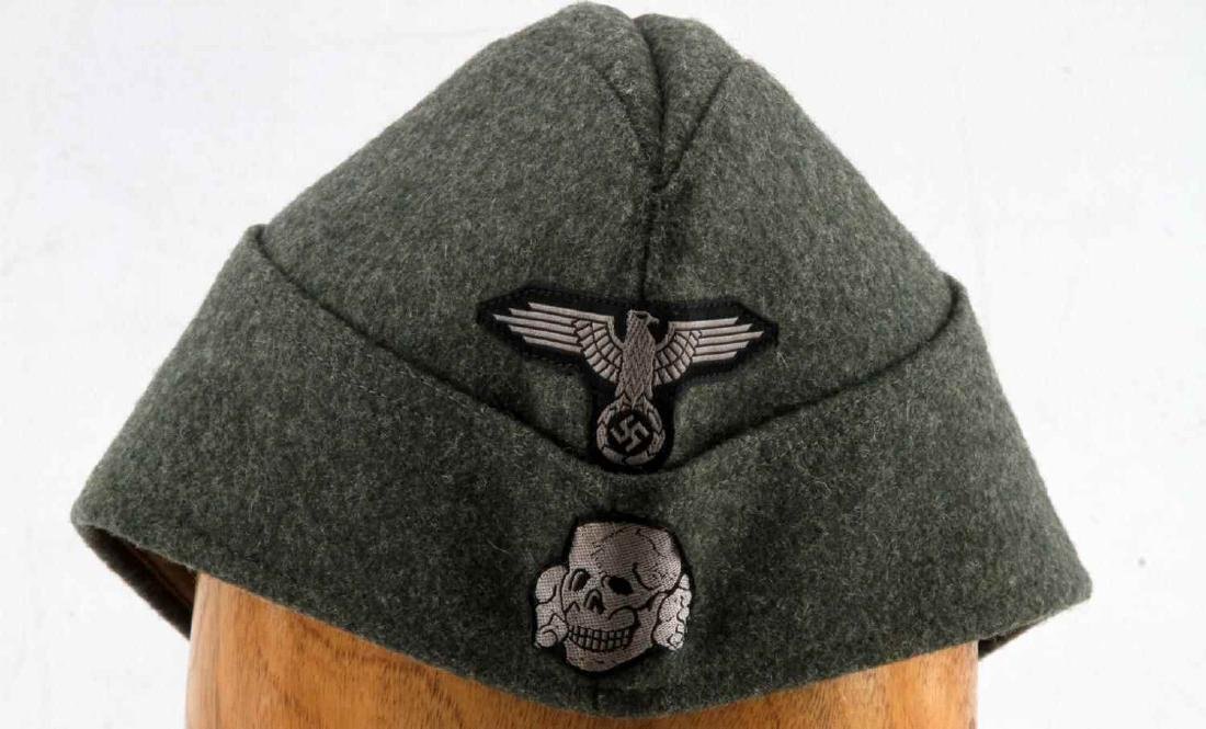 GERMAN WWII WAFFEN SS ENLISTED MANS OVERSEAS CAP - 2