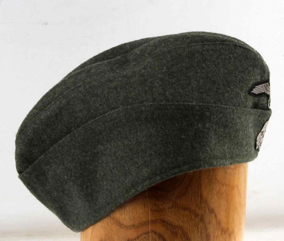GERMAN WWII WAFFEN SS ENLISTED MANS OVERSEAS CAP - 3