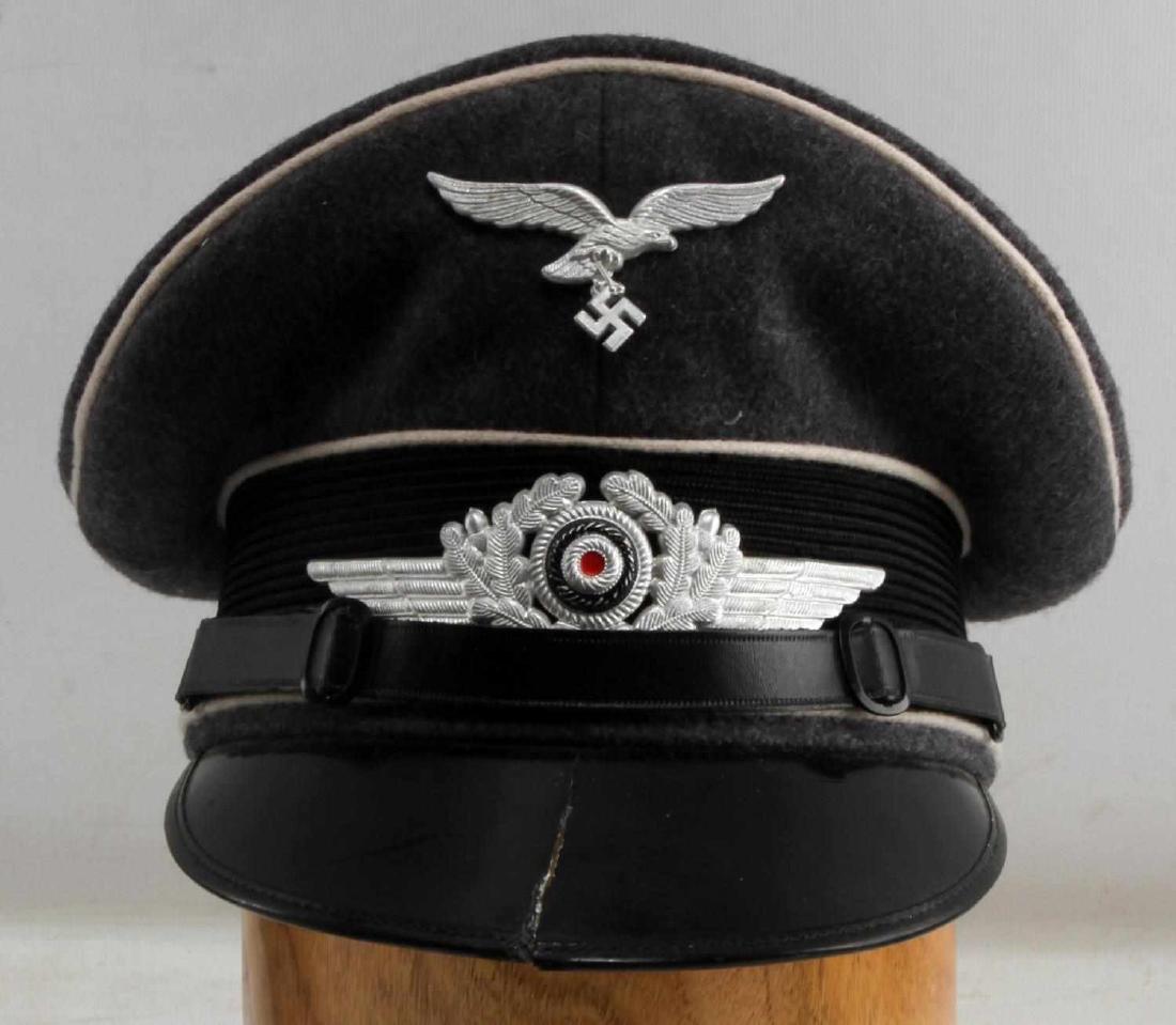 WWII GERMAN THIRD REICH LUFTWAFFE EM VISOR CAP