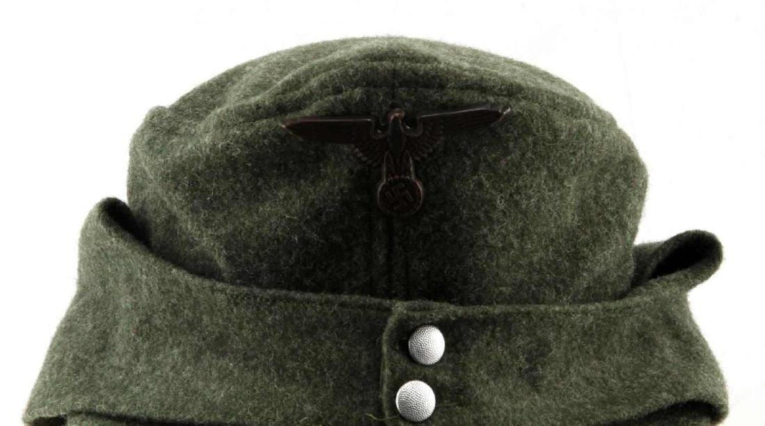 GERMAN WWII WAFFEN SS ENLISTED MANS M-43 CAP - 2