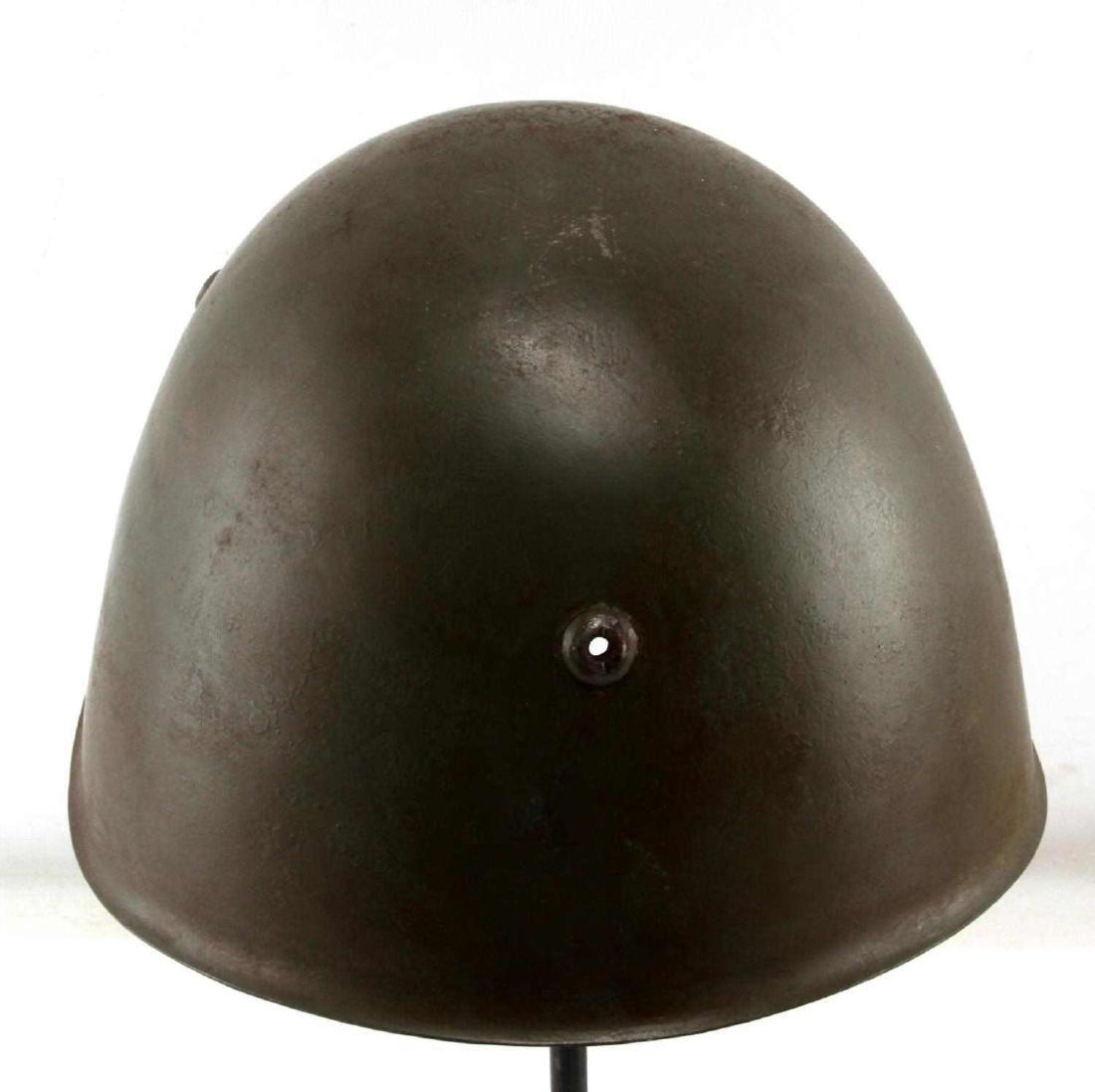 GERMAN ITALIAN WWII WAFFEN SS COMBAT HELMET - 3