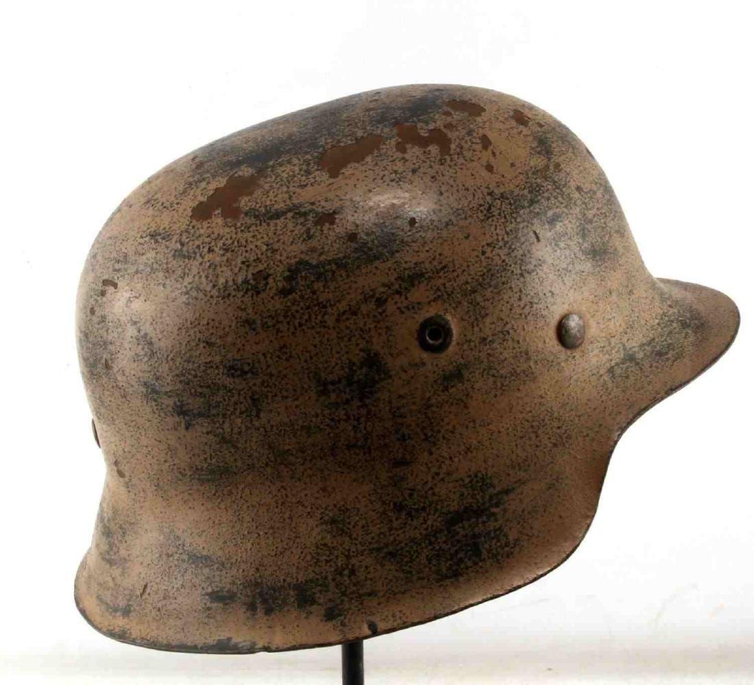 GERMAN WWII AFRIKA KORPS TROPICAL EM M40 HELMET - 2