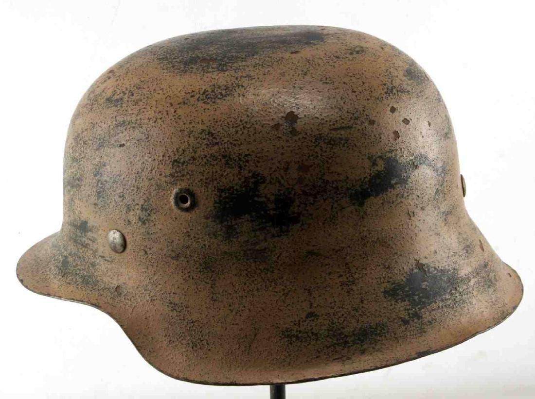 GERMAN WWII AFRIKA KORPS TROPICAL EM M40 HELMET - 4