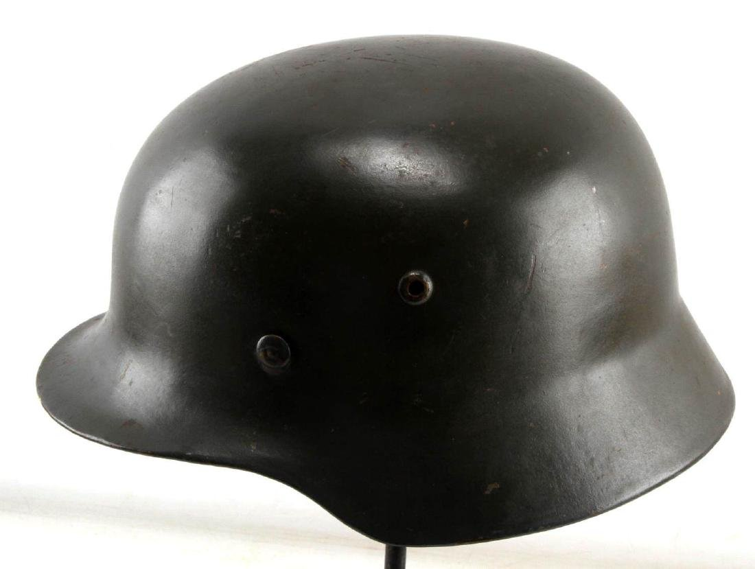 GERMAN WWII LUFTWAFFE M-35 COMBAT HELMET W LINER - 4