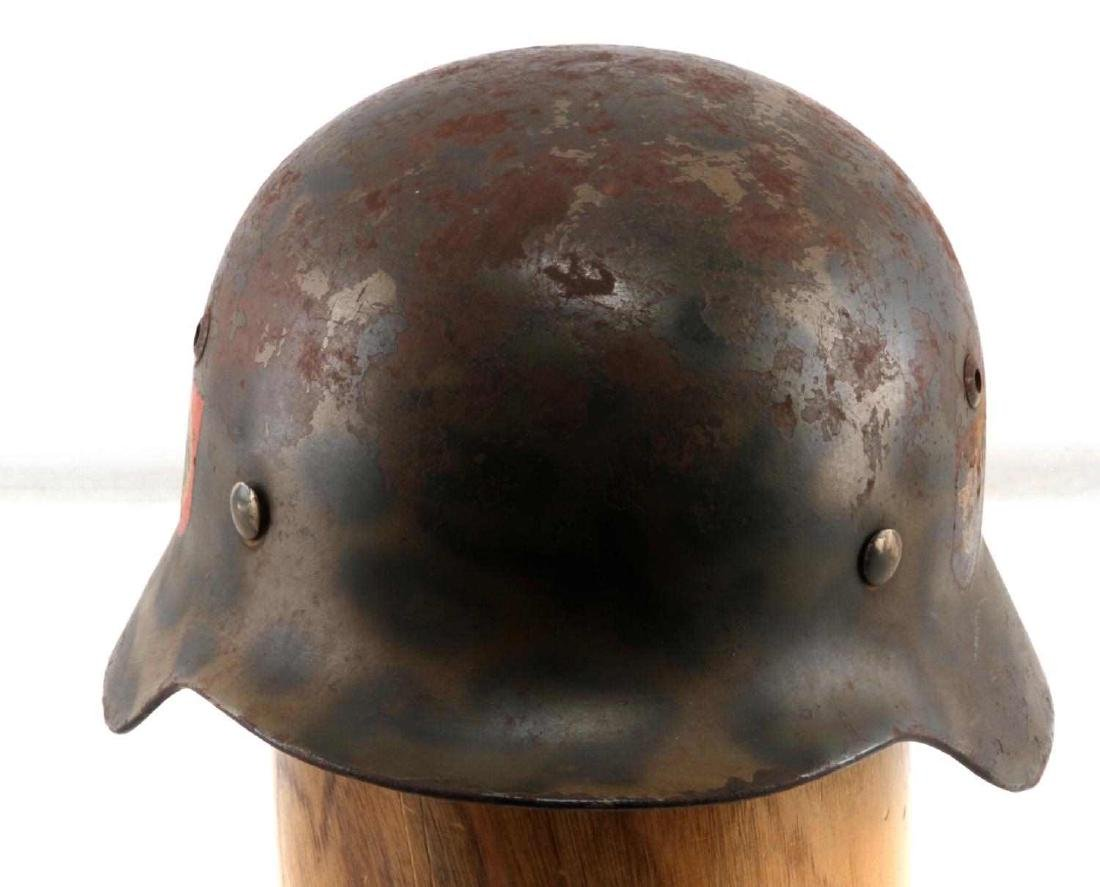GERMAN WWII POLICE DOUBLE DECAL M35 PAINTED HELMET