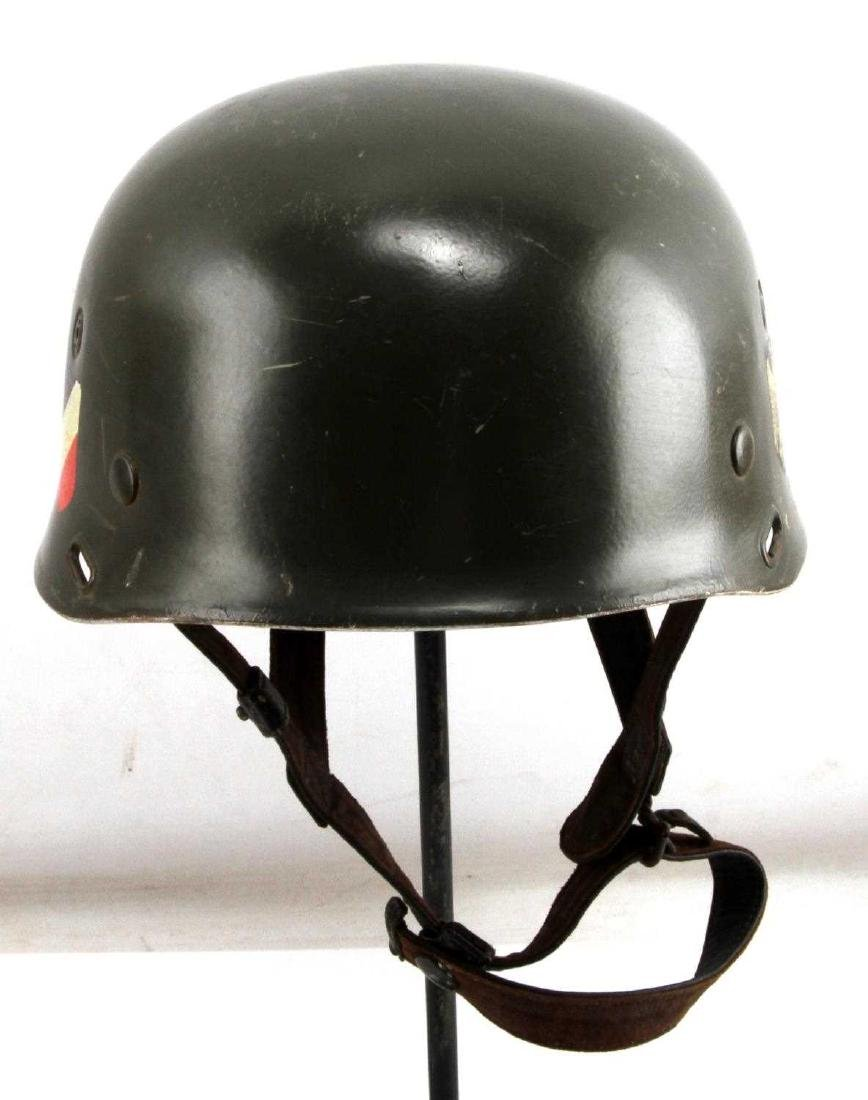 GERMAN WWII PARATROOPER DOUBLE DECAL M37 HELMET