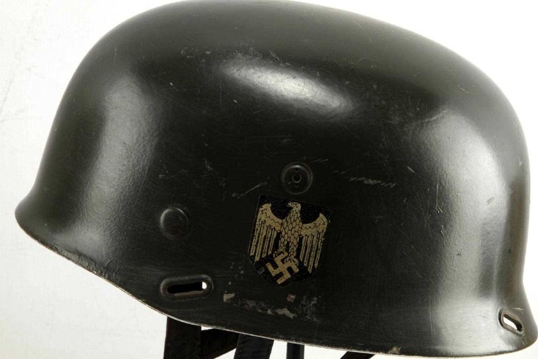 GERMAN WWII PARATROOPER DOUBLE DECAL M37 HELMET - 4
