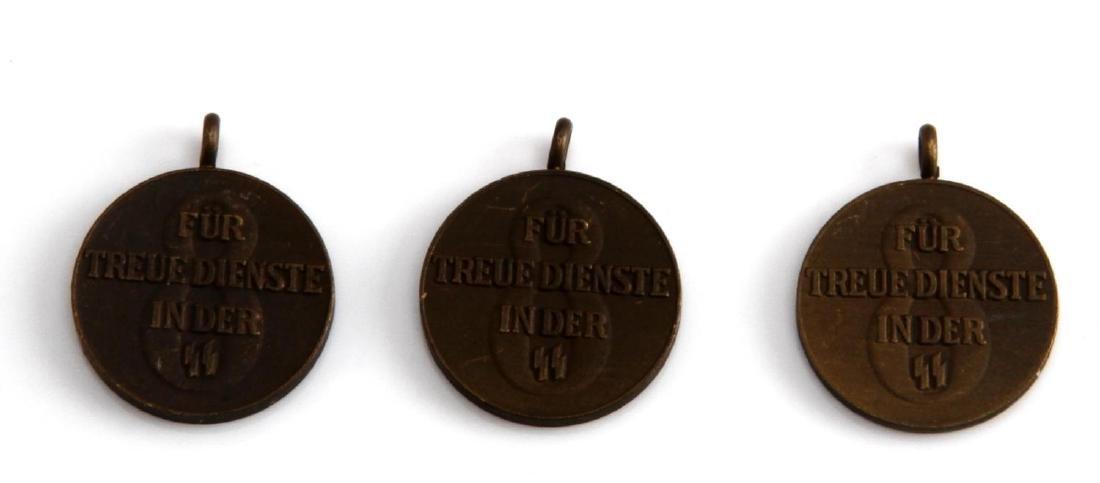 WWII WAFFEN SS MINI 8 YEAR LONG SERVICE DECORATION - 2