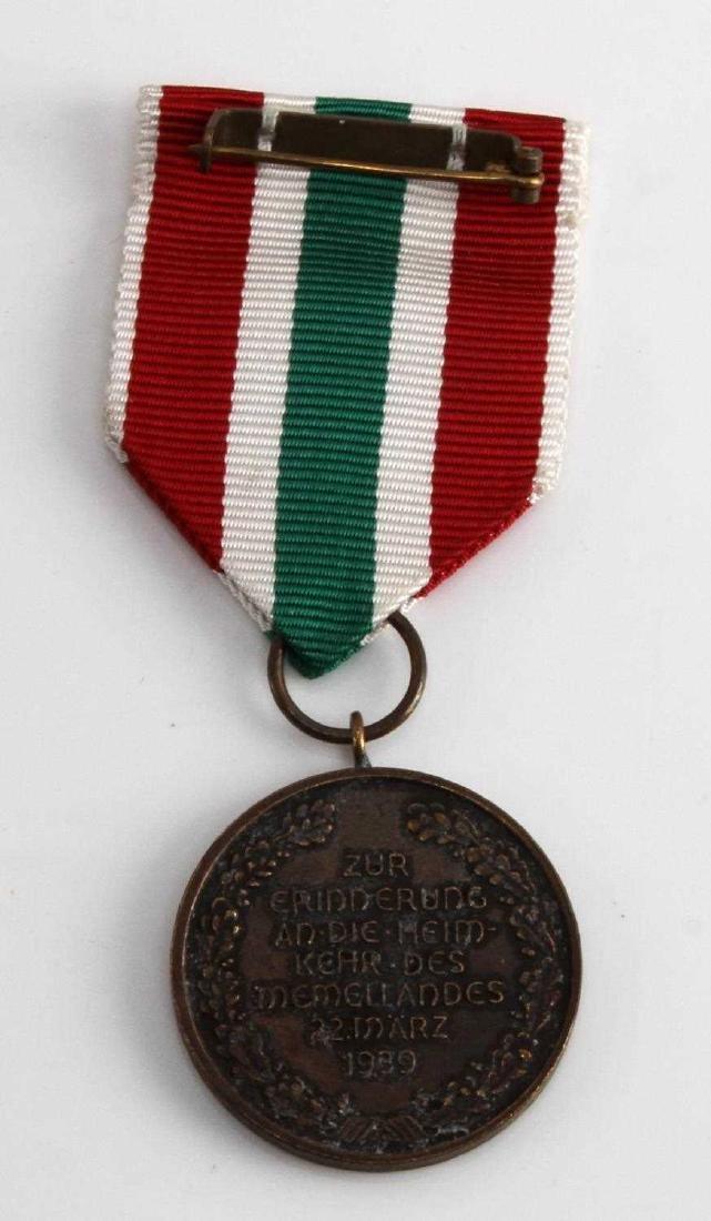 GERMAN WWII MARCH 1939 MEMEL DECORATION MEDAL - 3