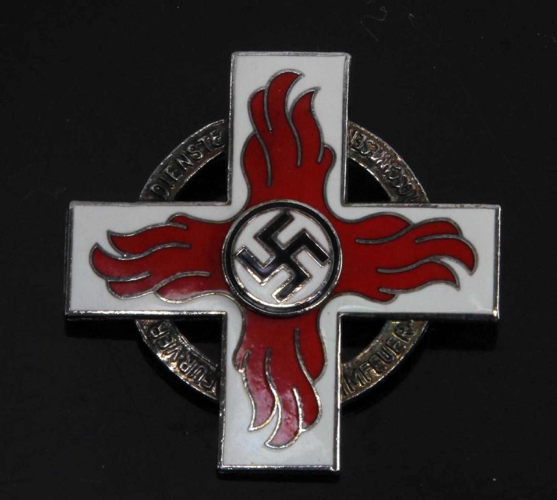 GERMAN WWII 1ST CLASS FIRE BRIGADE DECORATION