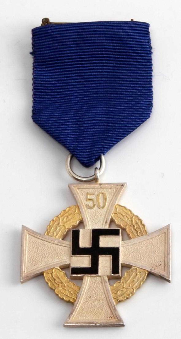 WWII GERMAN 50 YEAR LONG SERVICE CROSS MEDAL