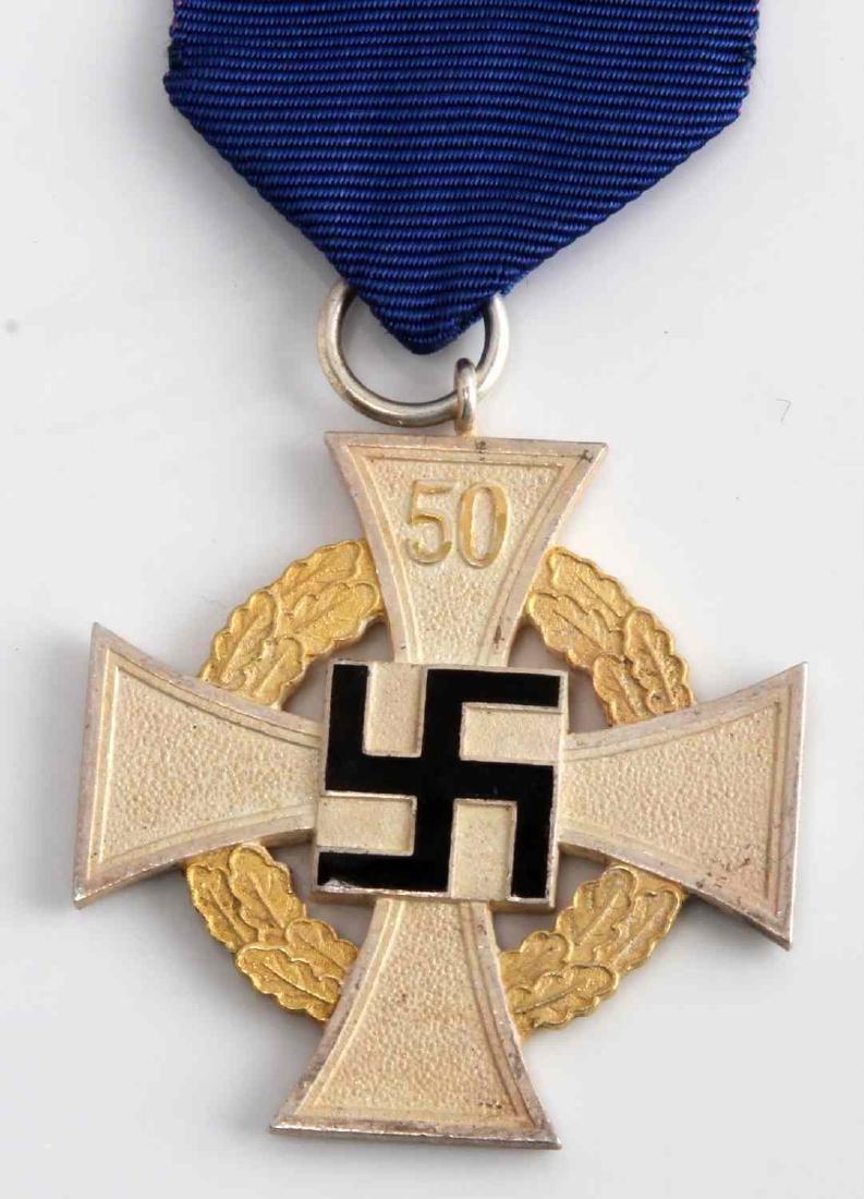 WWII GERMAN 50 YEAR LONG SERVICE CROSS MEDAL - 2