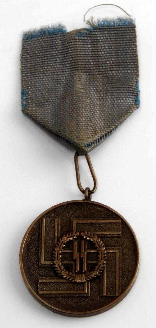 WWII GERMAN 3RD REICH WAFFEN SS LONG SERVICE MEDAL