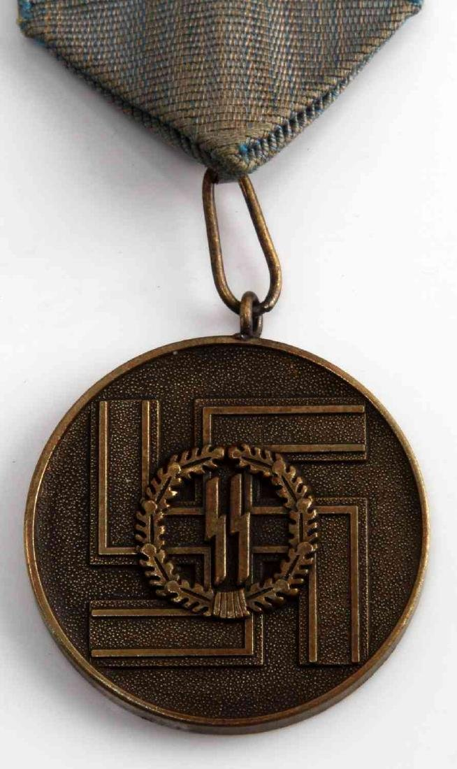 WWII GERMAN 3RD REICH WAFFEN SS LONG SERVICE MEDAL - 2