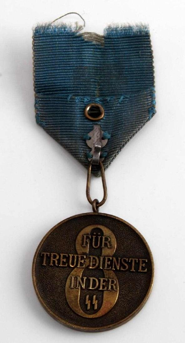 WWII GERMAN 3RD REICH WAFFEN SS LONG SERVICE MEDAL - 3
