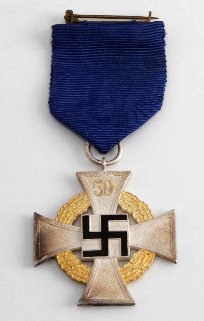 WWII GERMAN 3RD REICH NSDAP 50 YEAR SERVICE CROSS