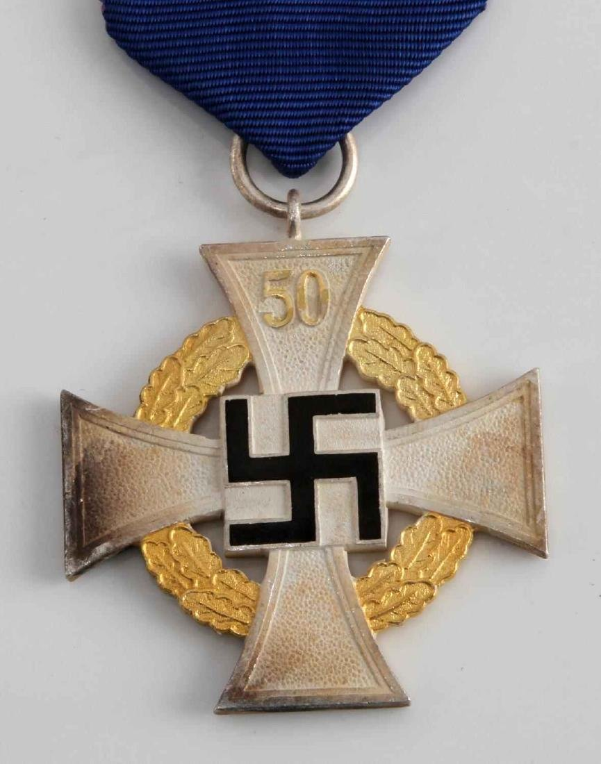 WWII GERMAN 3RD REICH NSDAP 50 YEAR SERVICE CROSS - 2