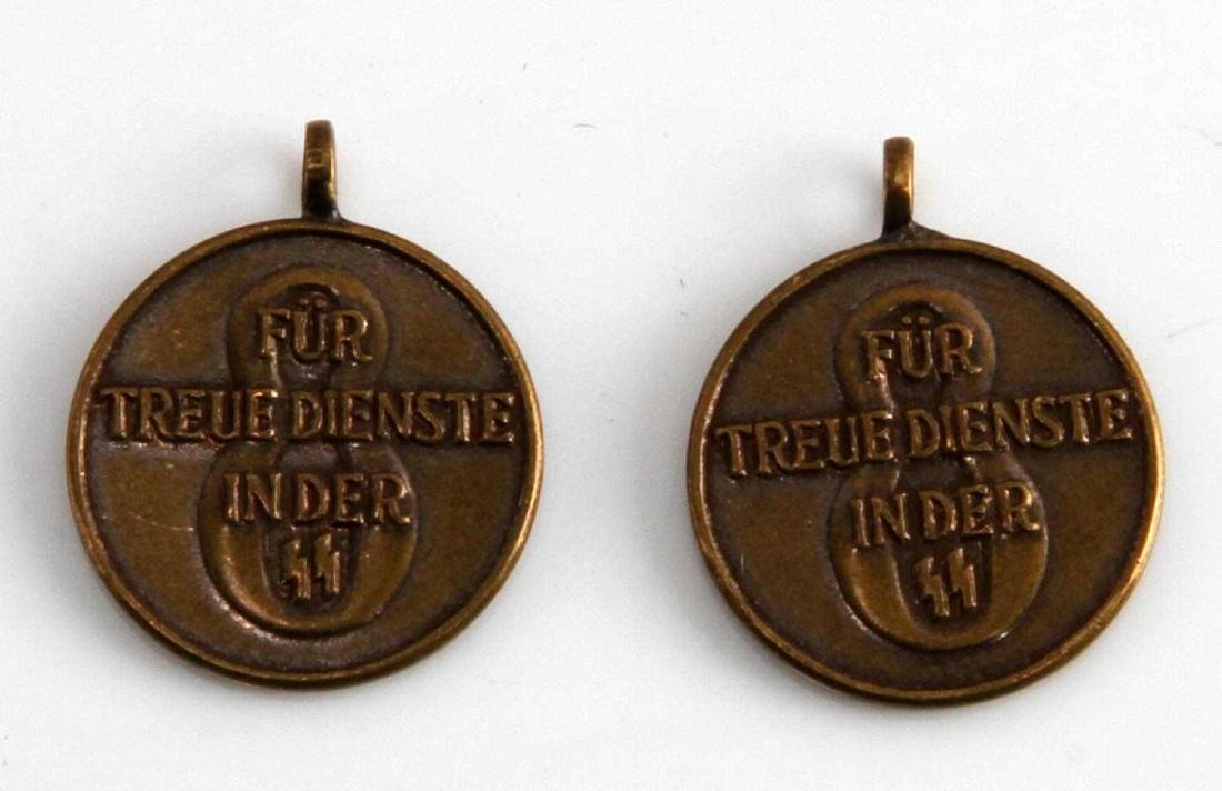 WWII GERMAN 3RD REICH SS 8 YEAR SERVICE MEDAL LOT - 2