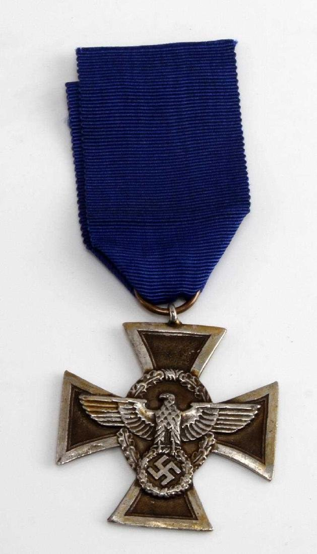 WWII GERMAN 3RD REICH POLICE 17 YEAR SERVICE MEDAL