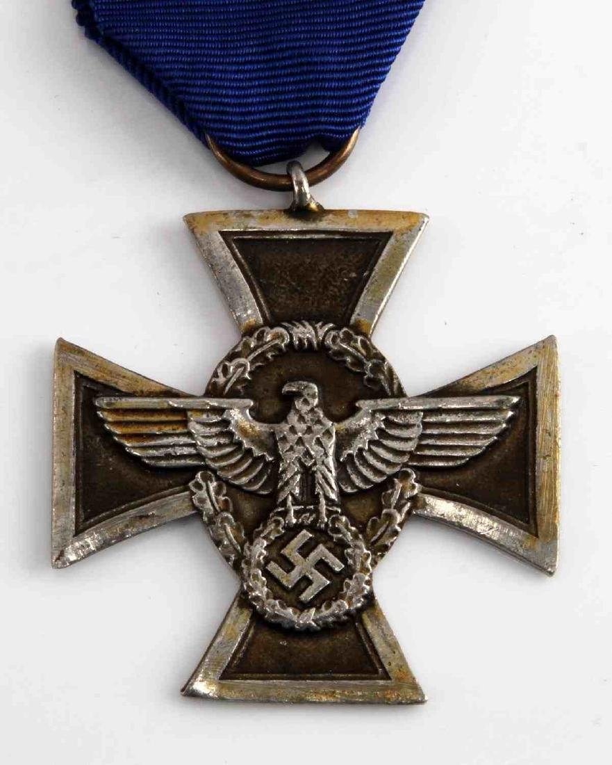 WWII GERMAN 3RD REICH POLICE 17 YEAR SERVICE MEDAL - 2
