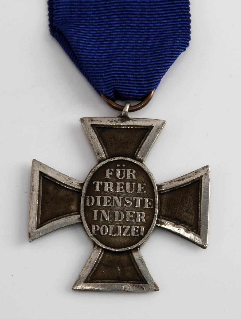WWII GERMAN 3RD REICH POLICE 17 YEAR SERVICE MEDAL - 3