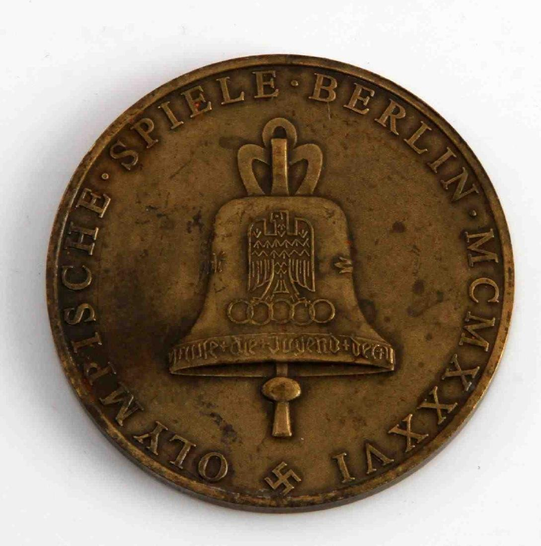 WWII GERMAN THIRD REICH SUMMER OLYMPIC TABLE MEDAL - 2