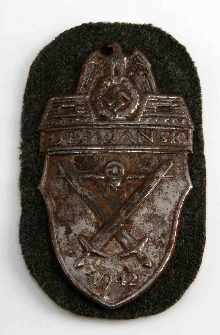 WWII GERMAN THIRD REICH DEMJANSK SLEEVE SHIELD