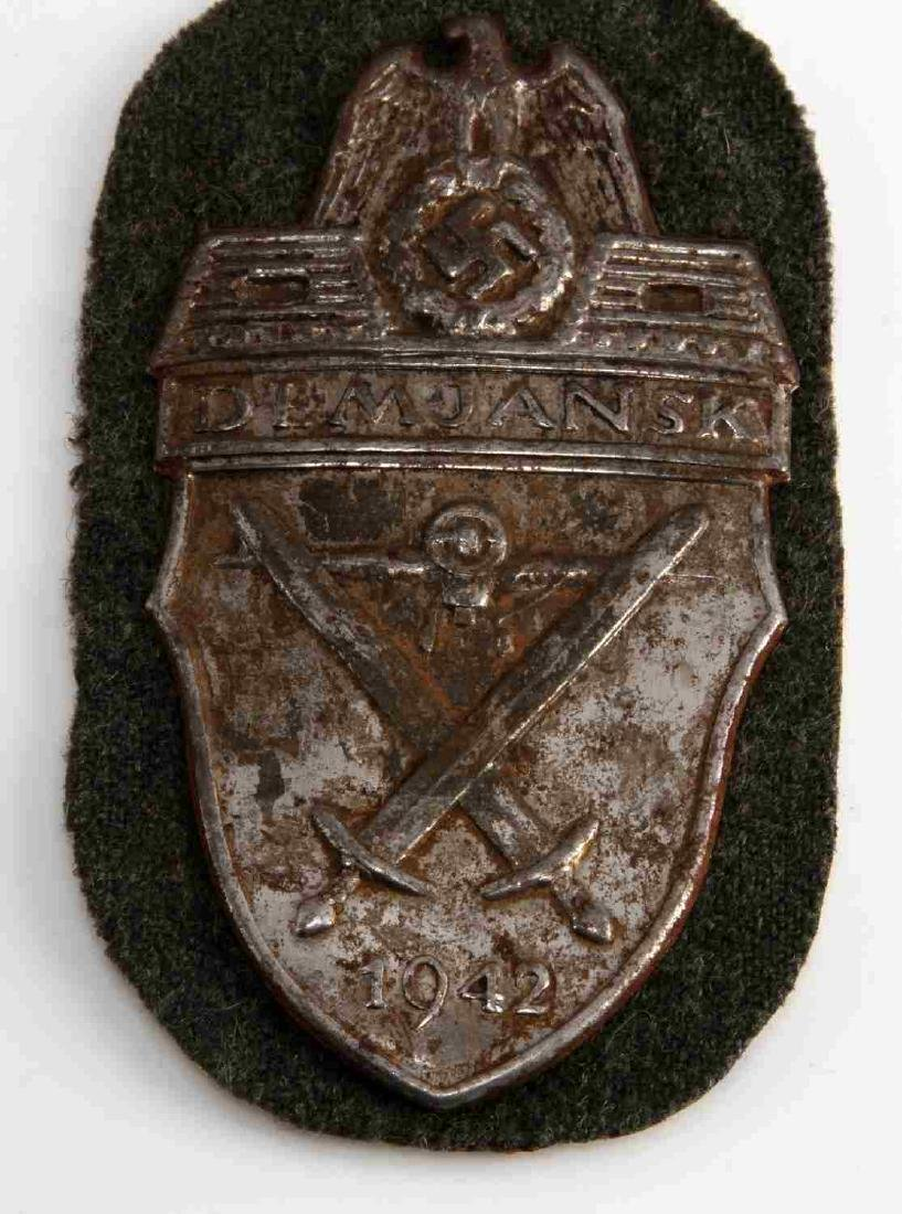 WWII GERMAN THIRD REICH DEMJANSK SLEEVE SHIELD - 2