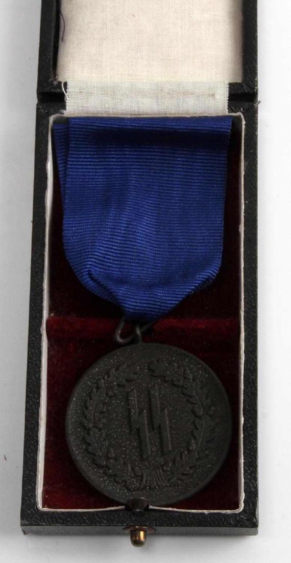 WWII GERMAN THIRD REICH SS 4 YEAR SERVICE MEDAL