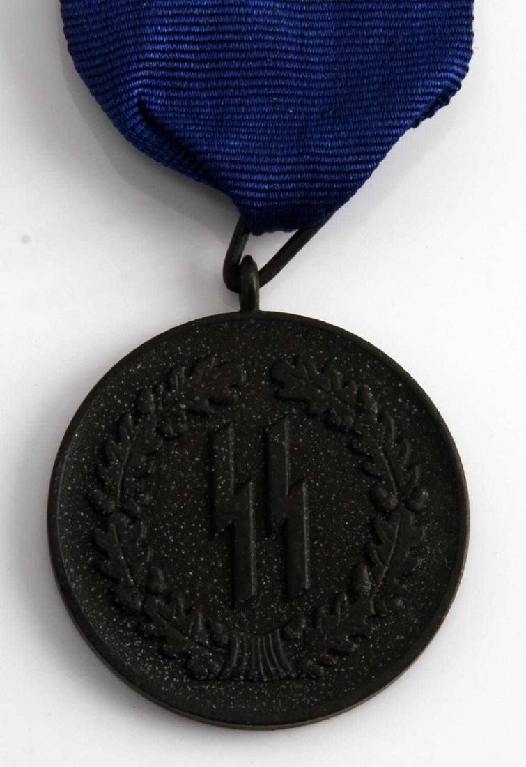 WWII GERMAN THIRD REICH SS 4 YEAR SERVICE MEDAL - 2
