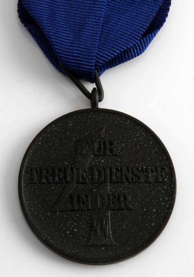 WWII GERMAN THIRD REICH SS 4 YEAR SERVICE MEDAL - 3