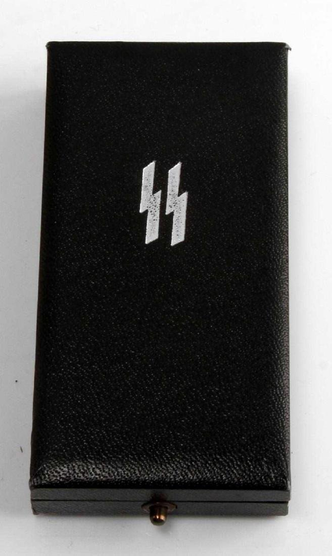 WWII GERMAN THIRD REICH SS 4 YEAR SERVICE MEDAL - 4