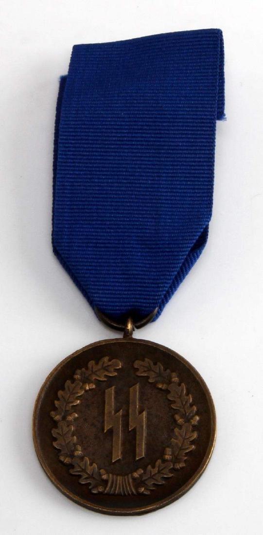 WWII GERMAN THIRD REICH SCHUTZSTAFFEL 4 YEAR MEDAL