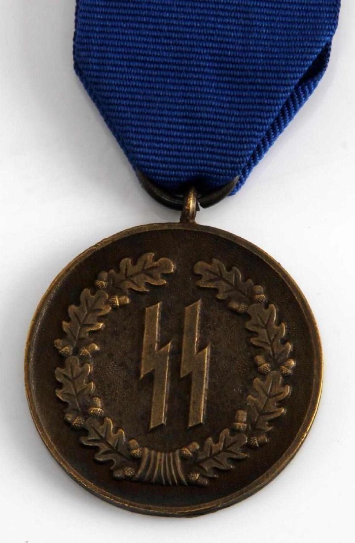 WWII GERMAN THIRD REICH SCHUTZSTAFFEL 4 YEAR MEDAL - 2