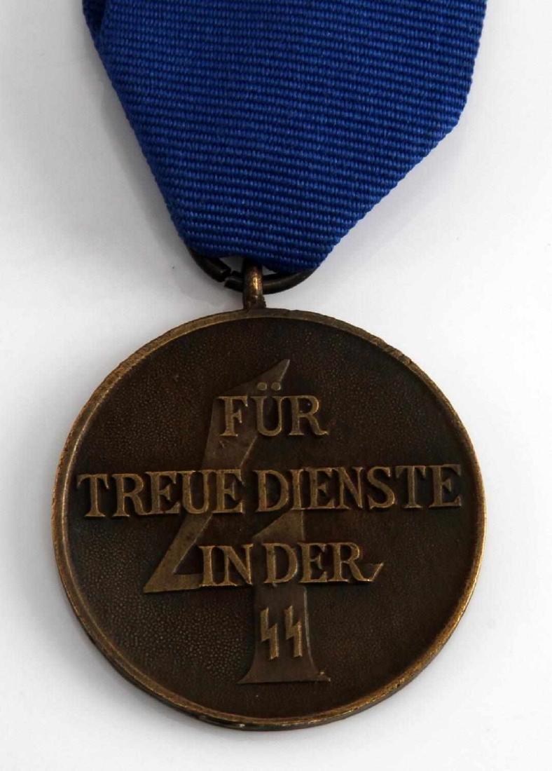 WWII GERMAN THIRD REICH SCHUTZSTAFFEL 4 YEAR MEDAL - 3