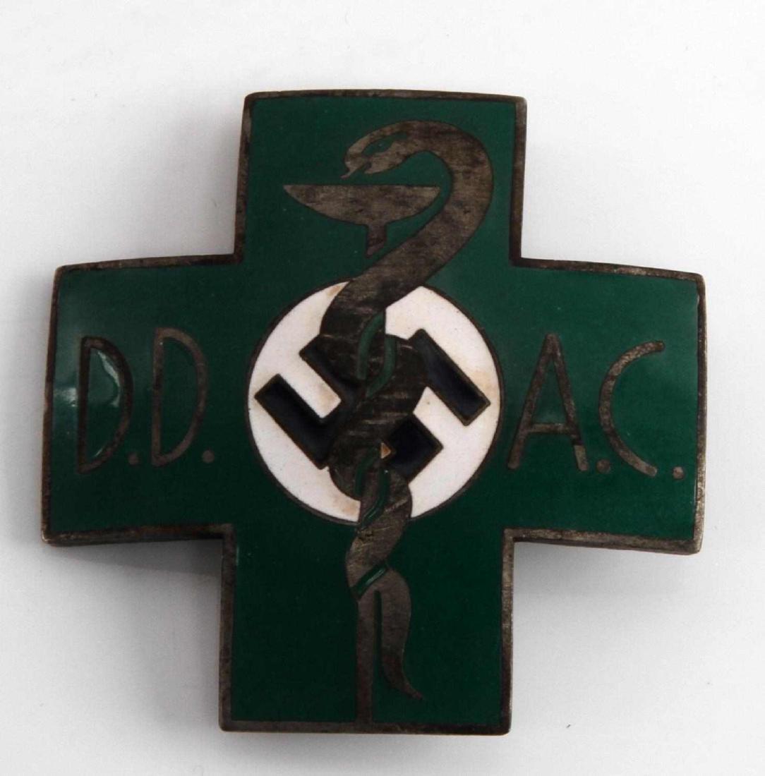 WWII GERMAN THIRD REICH DOCTOR CADUCEUS BADGE